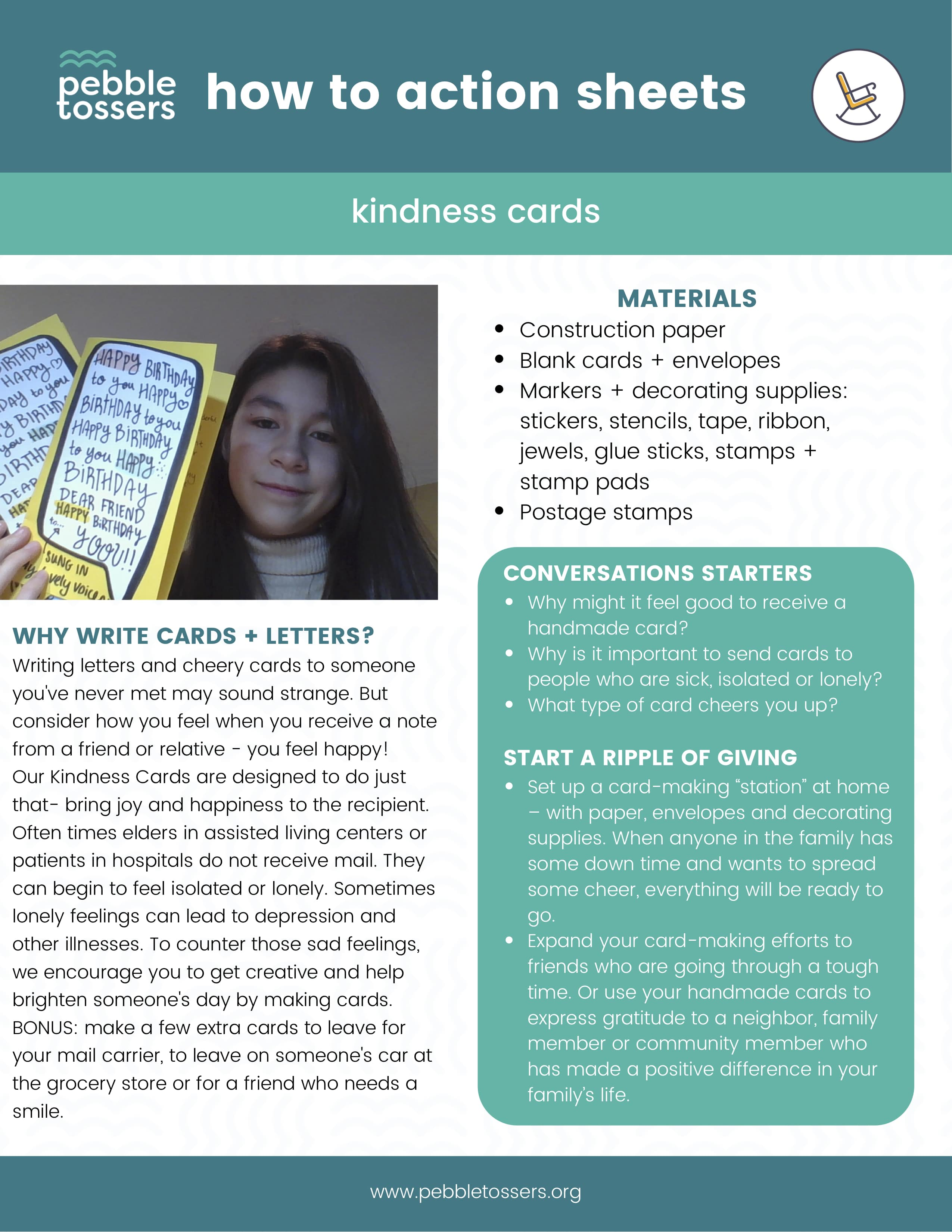 how to guide for creating kindness cards for the elderly